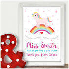 Thank You Gifts For Female Teacher Personalised Unicorn Gifts for Teacher School