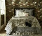ELYSEE QUILT SET-choose size & accessories-black french country creme VHC Brands image
