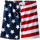 Kanu Surf Men's Big American Flag Extended SZ Swim Trunks - Choose SZ/Color