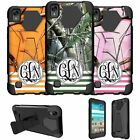 For LG K6P | LG X Power Dual Layer Case Customized With Your Initials - Camo