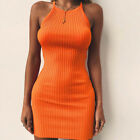 Women Summer Sleeveless Bodycon Cotton Party Evening Cocktail Short Mini Dress Z