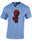 BABY DEADPOOL BABY GROOT TOY MENS T-SHIRT GUARDIANS SUPERHERO GALAXY (COLOUR)