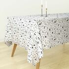 Tablecloth Neutral Bow Tie Hipster Fashion Illustration Wedding Cotton Sateen