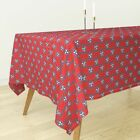 Tablecloth Red White And Blue Tricolor Patriotic Tennessee Star Cotton Sateen
