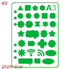 Journal Drawing Painting Template Scrapbooking Plastic Stencils Hollow Ruler