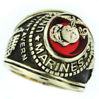Marines Seal US Military Gold Plated Mens Ring