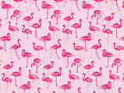 Hot Pink Flamingo Birds on Pink Tissue Paper for Gift Wrappi