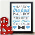 Personalised Bow Tie Thank You Gift - Page Boy Usher Best Man Wedding Party