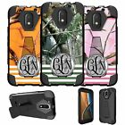 For Motorola Moto G4 XT1625 Case Customized With Your Initials - Camo