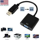displayport to vga - DP DisplayPort Male to VGA Female Converter Adapter Adaptor Cable For Laptop PC