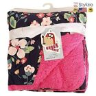 NEW Baby Blanket Coral Fleece Cartoon Thicken Double Layer Swaddle Envelope Stro
