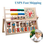 Children Baby Kids Learning Developmental Versatile Flap Abacus Wooden Toys ET