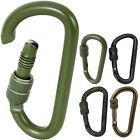 Tactical Locking Carabiner 80mm Aluminum Lightweight Strong Belt Keys Holder