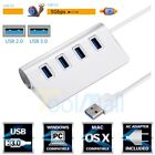 4-Port USB 3.0 Multi HUB Splitter Aluminum Adapter High Speed for PC Laptop Mac