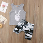 Toddler Baby Boys Kids Clothes T-shirt Tee Tops + Shorts Pants Outfits Sets US