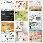 Tree Leaves Grass Flowers Decor Wall Stickers Bedroom Backdrop Art Decal Diy Uk