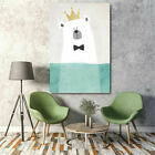 Cartoon Animal Oil Painting Canvas Wall Art Picture Print Kid Room Gift Unframed