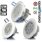 3W/7W/12W LED Ceiling Downlights Recessed Spotlights Round Tilt Warm/ Cool White