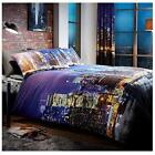 New York Night Life Reversible Bedding Set Duvet Cover With Pillow Cases