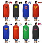 55inch 140cm adults superhero capes and mask