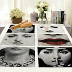 Внешний вид - Vintage Fornasetti Cotton Linen Placemat Dining Coffee Table Mat Home Kitchen