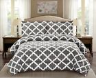 Внешний вид - Ultra Soft Microfiber Comforter w/ Pillow Sham Goose Down Alternative Grey Color