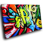 ZAB098 Green Red Graffiti Modern Canvas Abstract Home Wall Art Picture Prints