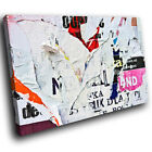 ZAB447 White Pink Graffiti Modern Canvas Abstract Home Wall Art Picture Prints