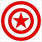 Captain America Decal / Sticker - Choose Size & Color - Marvel Avengers
