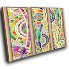 ZAB552 Colourful Cool Retro Modern Canvas Abstract Home Wall Art Picture Prints
