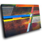 ZAB1133 Blue Pink Red Modern Retro Canvas Abstract Home Wall Art Picture Prints