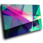 AB257 Green Pink Geometric Modern Abstract Canvas Wall Art Large Picture Prints