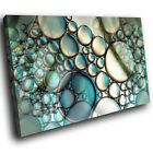 AB937 Blue Teal White Cool Modern Abstract Canvas Wall Art Large Picture Prints
