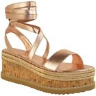 Womens Ladies Lace Up Tie Up Espadrilles Platform Shoes Wedge Sandals Size 3-8