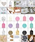 Wedding Luggage Tags Reception Bride Groom Favour Party Gift Present Supplies $4.38 USD on eBay