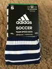 Adidas Team Speed Soccer Socks Navy Blue/White Formotion Sz