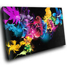 SC105 Colourful Abstract Flowers Cool Nature Canvas Wall Art Large Picture Print