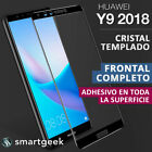 PROTECTOR CRISTAL TEMPLADO para HUAWEI Y9 2018  FRONTAL COMPLETO Full Glass 3D