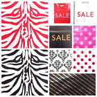 PLASTIC CARRIER BAG - MODERN PRINTED STRONG SHOPPING BAGS - ALL SIZES