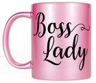 Boss Lady Pink Coffee Mug, Women's Pretty Gift for Her, Mom Wife Girlfriend