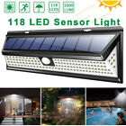 LED Solar PIR Motion Sensor Wall Light Outdoor Waterproof Garden Patio Lamp