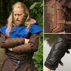 Leather Viking Bracers / Arm Armour - Ideal For LARP / Theatre / Costume