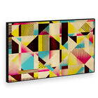 BF2AB309P Yellow Black Pink Modern Abstract Framed Wall Art Picture Prints