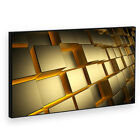 BF2AB706P Yellow Retro Gold Modern Abstract Framed Wall Art Picture Prints