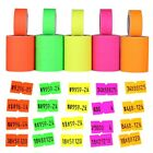 Внешний вид - 500pcs/roll Colorful Price Label Paper Tag Mark Sticker For MX-5500 Labeller Gun