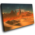 SC728 Blue Orange Desert Stars Landscape Canvas Wall Art Large Picture Prints