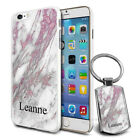 Personalised Marble Design Phone Case Cover & Keyring for Various Phones - 270