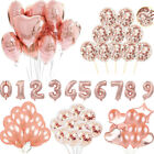 Rose Gold Series Foil Latex Balloon Set Helium Star Wedding Birthday Party Decor