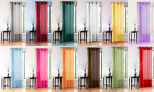 sheer yellow curtains - 1 SINGLE PC VOILE SHEER WINDOW DRESSING CURTAIN GROMMET PANEL TREATMENT DRAPE