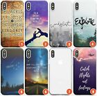 Travel Slim Flexible Phone Case for iPhone | Travel Quote Holiday Backpacking Lo